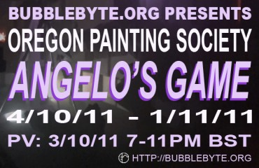 Oregon Painting Society - Angelo's Game, flier