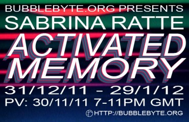 Sabrina Ratté - Activated Memory, flier