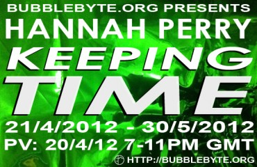 Hannah Perry - Keeping Time, flier